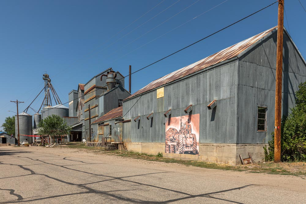 Exterior view of the East of Historic Hayden Granary.