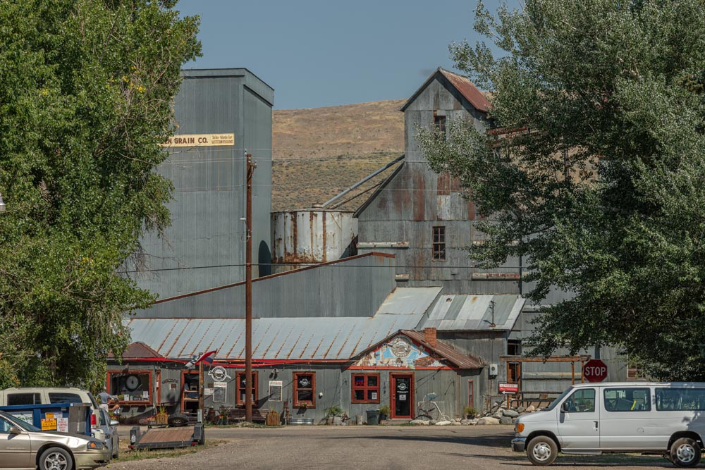 Front view of Historic Hayden Granary.