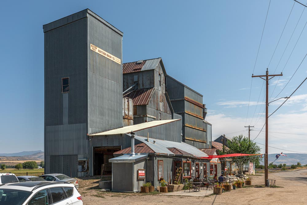 West side outdoor view of Historic Hayden Granary.