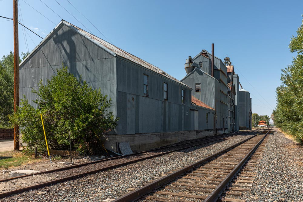 Railroad track behind the Historic Hayden Granary.