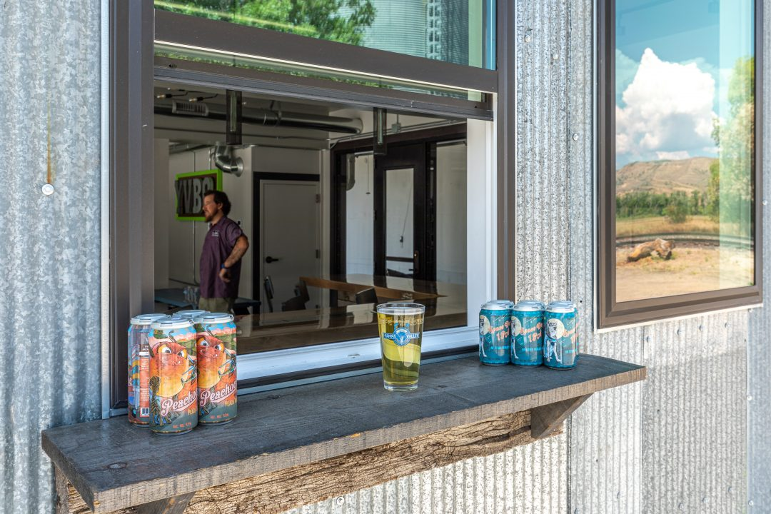 Outdoor order window at Yampa Valley Brewing