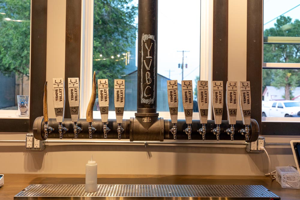 Beer tap inside Yampa Valley Brewing